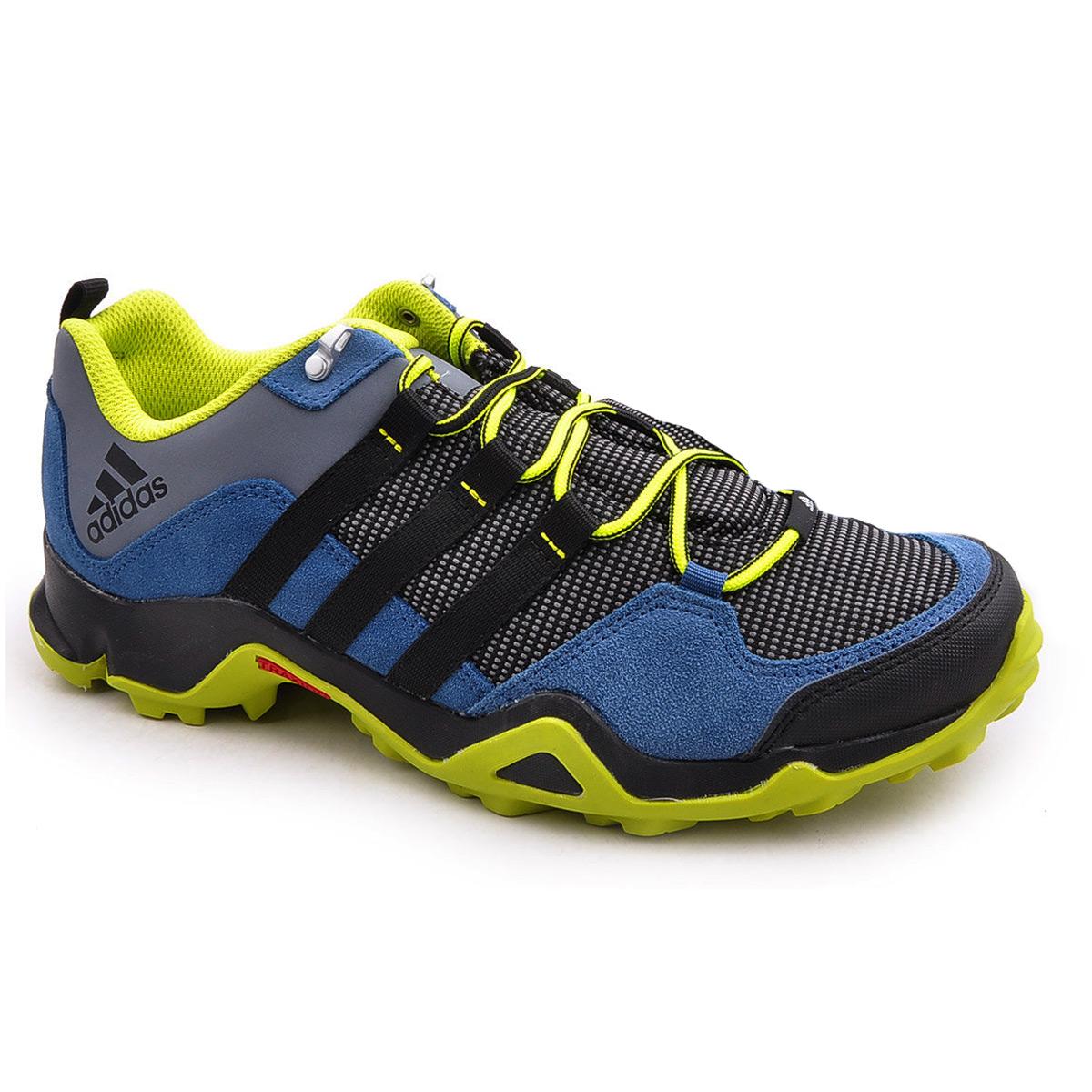 zapatillas adidas azul y amarillo