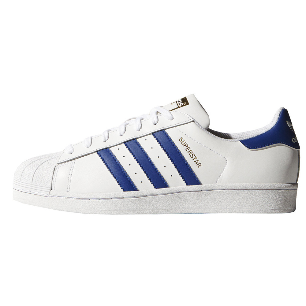 zapatillas adidas blancas rayas azules